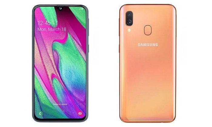 เผยภาพ Samsung Galaxy A20 และ A40 มาพร้อมกล้องหลังคู่และกล้องหน้า 25 ล้านพิกเซล