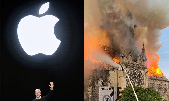 """""""แอปเปิล"""" ร่วมบริจาคเงินก่อสร้าง """"วิหารน็อทร์-ดาม"""" หลังเพลิงไหม้"""