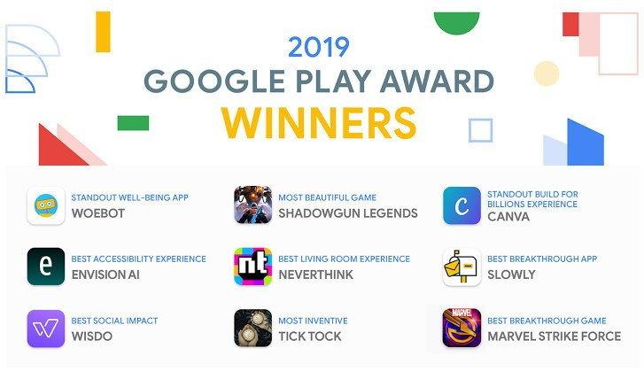 Google เผยรายชื่อแอปและเกมที่ชนะรางวัล Google Play Awards 2019