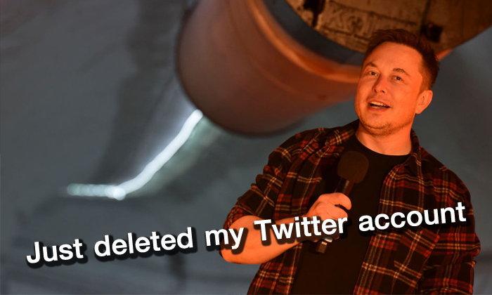 """""""Elon Musk"""" ทวีตบอกว่าเพิ่งลบบัญชีทวิตเตอร์ส่วนตัวทิ้งแล้ว"""