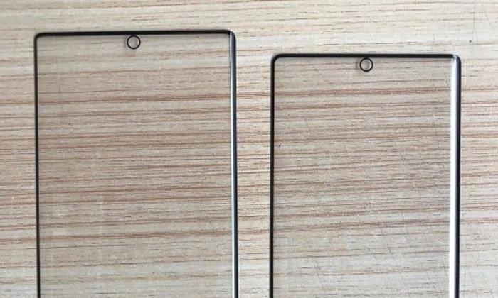 เผยโฉมกระจกกันรอยด้านหน้าของ Samsung Galaxy Note 10 พบเจาะรูไว้ตรงกลางทั้งคู่