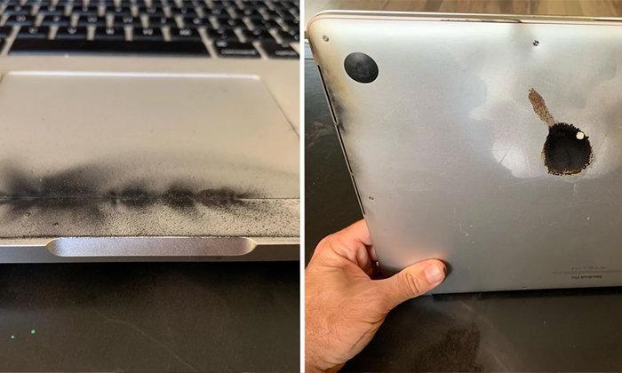 เป็นเรื่อง MacBook Pro รุ่น 15 นิ้ว ระเบิด 3 วันก่อนการเรียกคืน
