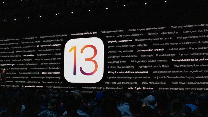 iOS 13 ระบบปฏิบัติการใหม่ล่าสุดของ Apple ปล่อยให้โหลดแล้ววันนี้