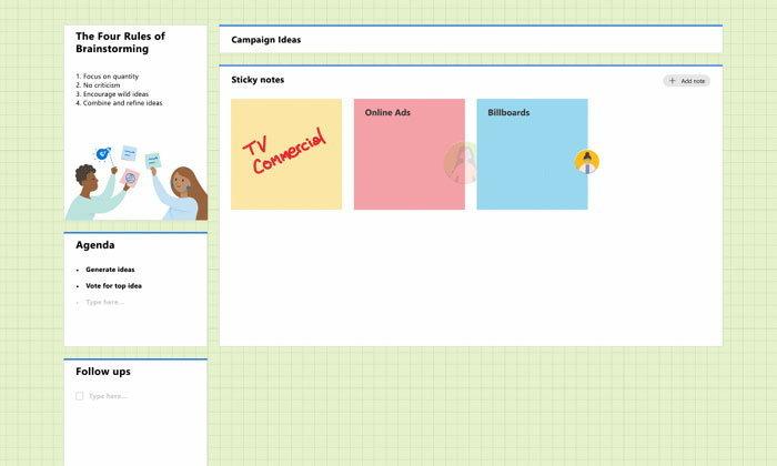 Microsoft เพิ่มเทมเพลตใหม่ใน Whiteboard : เสริมการทำงานร่วมกันอย่างมีประสิทธิภาพ