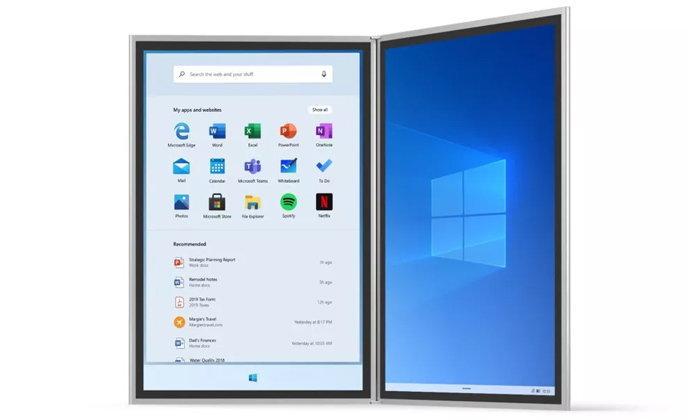 ภาพหลุด Windows 10X สามารถรองรับแล็ปท็อปเพิ่มเติมจากอุปกรณ์ 2 หน้าจอพับเก็บได้