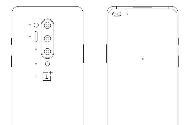 หลุดภาพโครงร่างของOnePlus 8 Proพร้อมกล้องหลัง4ตัวและกล้องหน้าคู่เจาะรู