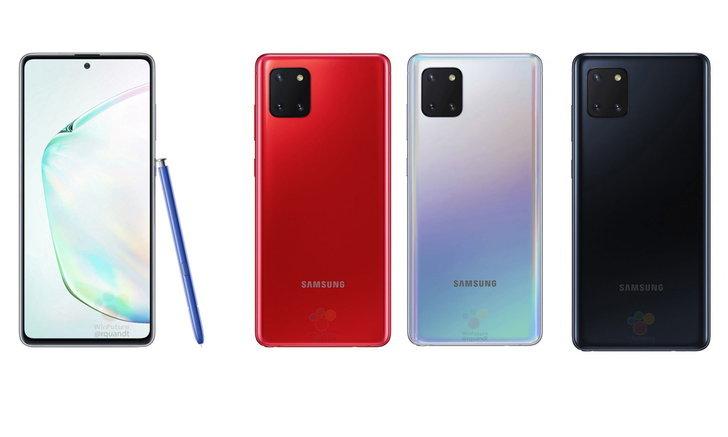 เผยภาพของSamsung Galaxy Note 10 Liteมันเป็นหน้าจอเรียบอีกครั้งของตระกูลNote