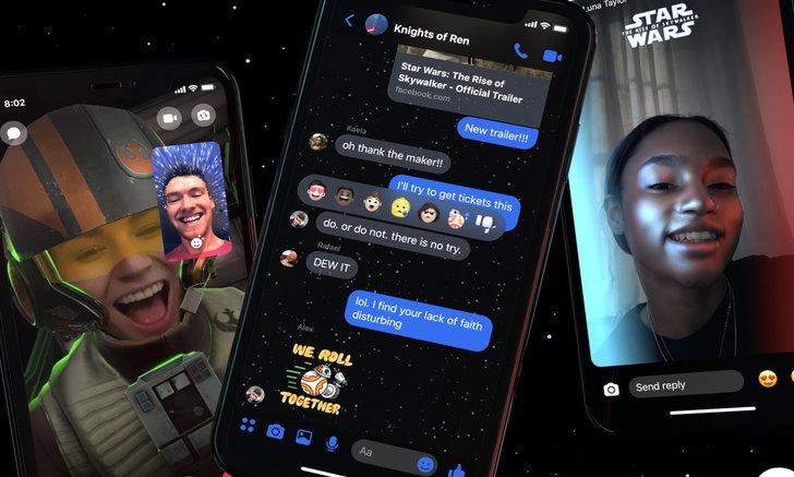 Facebookเพิ่มTheme ใน Messengerต้อนรับการมาของStar Warsภาคล่าสุด