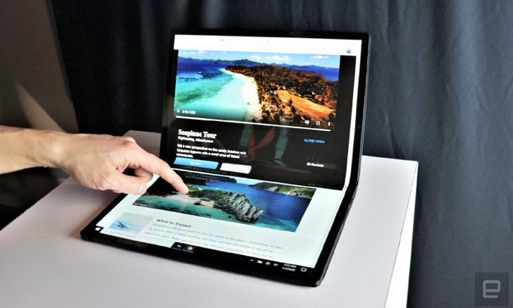 CES 2020 : Intel โชว์ศักยภาพ Horseshoe Bend แท็บเล็ตพับจอได้ที่มีขนาดใหญ่ที่สุด