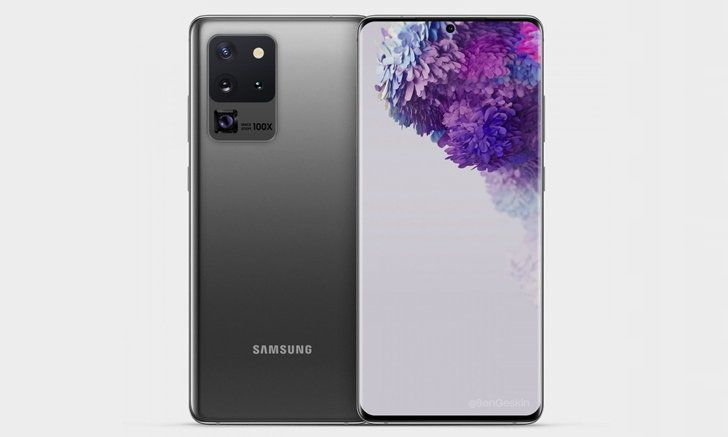 Samsung Galaxy S20 Ultraรุ่นท็อปอาจจะได้ใช้บอดี้ขอบสแตนเลส