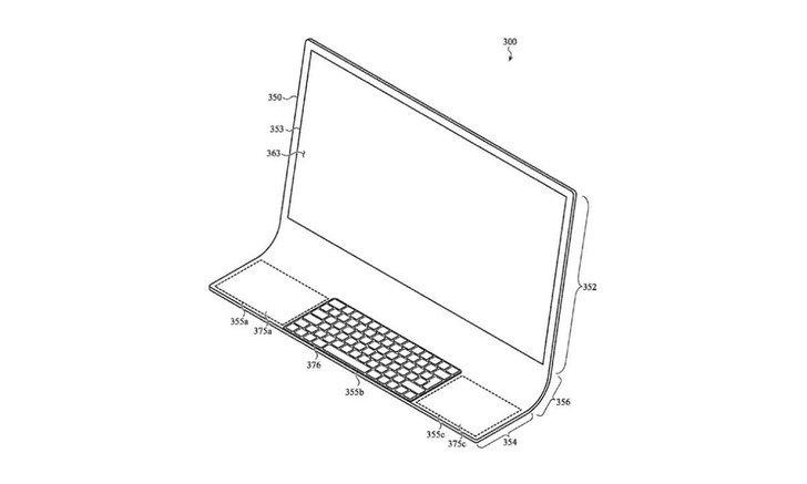 ชมภาพสิทธิบัตรคอมพิวยเตอร์ที่มีส่วนโค้งรับด้านล่างคาดว่าจะเป็นiMacรุ่นใหม่