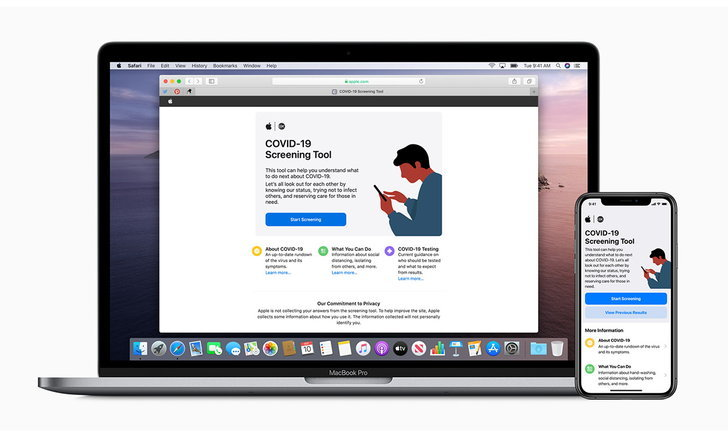 Appleเปิดหน้าเว็บไซต์และAppsสำหรับคัดกรองผู้ติดเชื้อไวรัสCOVID-19แต่เหมาะกับบางประเทศเท่านั้น