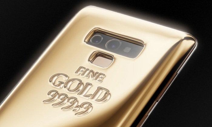 """ยลโฉม """"Samsung Galaxy Note 9"""" เคลือบทองคำหนักกว่า 1 กิโลกรัม"""