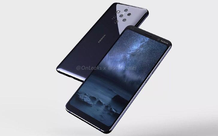 """หลุดภาพคอนเซ็ป """"Nokia 9 PureView"""" ว่าที่มือถือกล้องหลัง 5 ตัว"""
