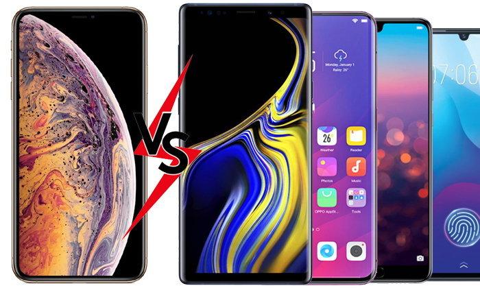 เปรียบทียบ iPhone กับ Smartphone รุ่นท็อป