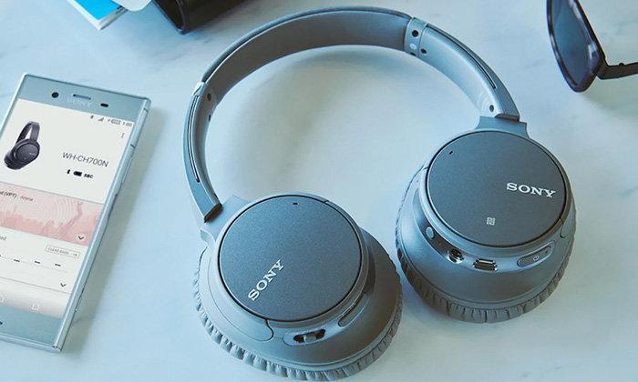 """Sony WH-CH700"" หูฟังไร้สายรุ่นใหม่ที่ติดตั้งระบบตัดเสียงวิเคราะห์โดย AI"