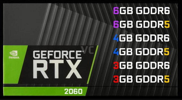 จะเยอะไปไหน เผยสเปค NVIDIA GeForce RTX 2060 ที่ซอยรุ่นตามหน่วยความจำมากถึง 6 แบบ