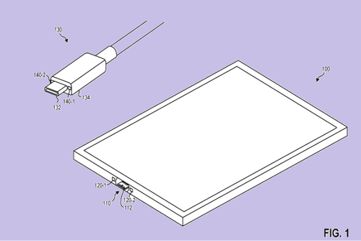 Microsoft จดสิทธิบัตรหัวชาร์จ USB-C กระชากสายแล้วเครื่องไม่ตกพื้นแบบเดียวกับ MagSafe