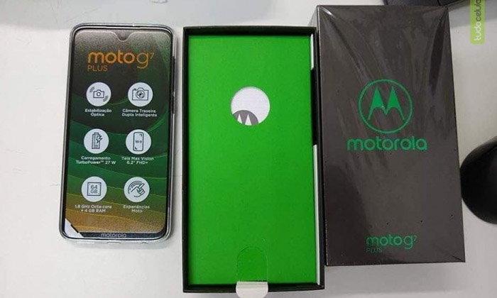 """ชมภาพกล่องของ """"Moto G7 Plus"""" จะมาพร้อมที่ชาร์จเร็วกำลัง 27W"""