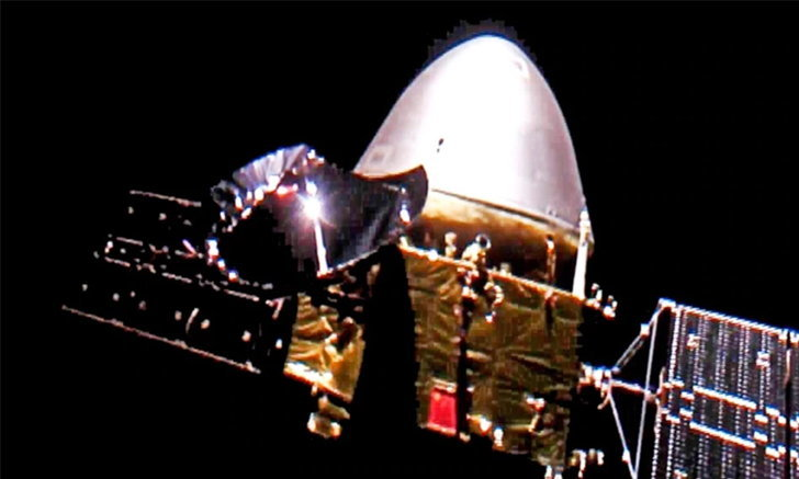 """ยานเทียนเวิ่น-1 ของจีน เข้าสู่ """"วงโคจรพักรอ"""" ของดาวอังคาร"""