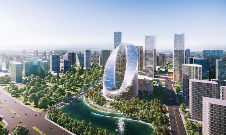 """สุดอลัง! หลุดภาพ """"O-Tower"""" ตึกใหม่ของ OPPO กลางมหานครหางโจว"""