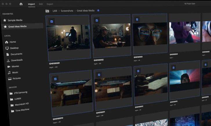 Adobe ยกกระชับใบหน้าให้กับ Premiere Pro รุ่นใหม่ให้สามารถนำเข้า File ได้ง่ายขึ้น