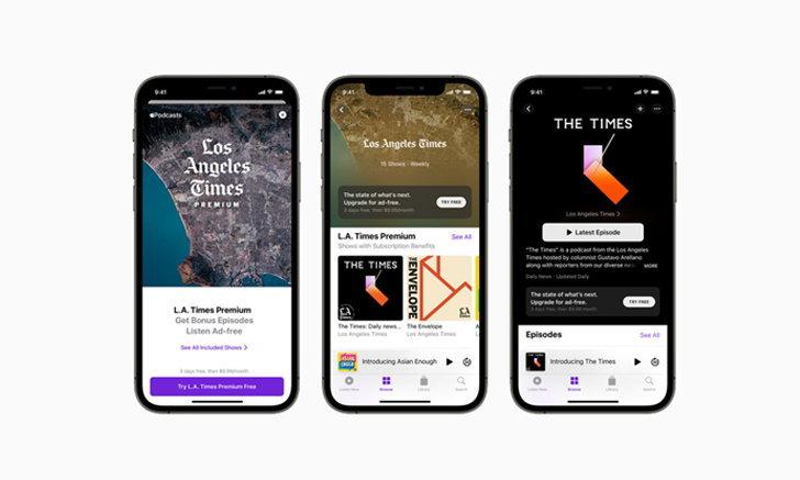 Apple Podcasts Subscriptions และช่องรายการพร้อมให้บริการแล้ววันนี้ทั่วโลก