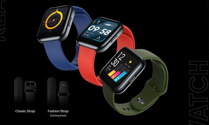 realme Watch จอสี 14 โหมดออกกำลังกาย วัดออกซิเจนในเลือดและอัตราการเต้นหัวใจเรียลไทม์