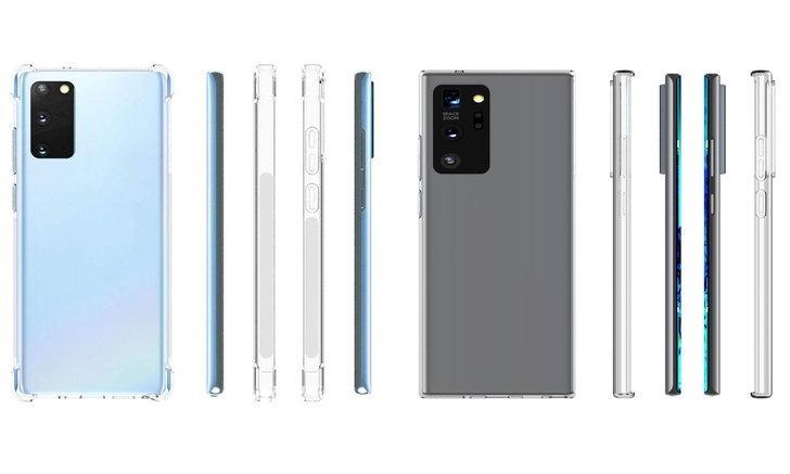 เผยภาพRenderของเคสSamsung Galaxy Note 20และNote 20+ที่ยังเห็นส่วนโค้งของหน้าจออยู่