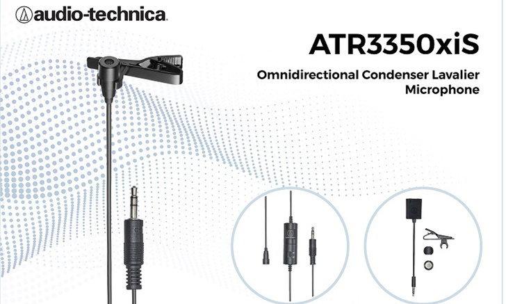 RTBเปิดตัวAudio-technicaATR3350xiSไมโครโฟนติดปกเนื้อที่มาพร้อมกับการบันทึกเสียงได้รอบทิศ