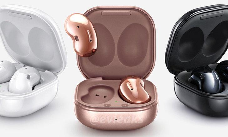 ชมภาพสวยงามของSamsung Galaxy BudsLiveที่เป็นหูฟังทรงถั่วที่กำลังจะเปิดตัวเร็วๆนี้