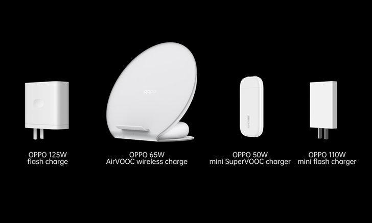 """OPPO"" เปิดตัวเทคโนโลยี 125W Flash charge รุ่นใหม่เพียบ"