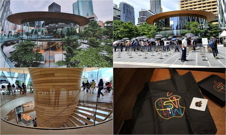 พาชมภาพบรรยากาศหน้าร้าน Apple Central World ที่เปิดอย่างเป็นทางการวันแรก!