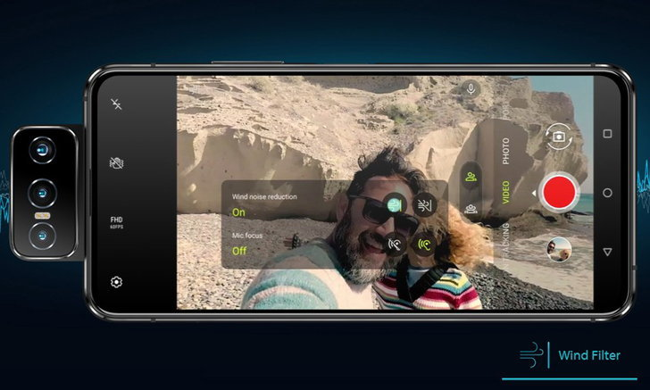 ASUSเผยว่าไมโครโฟนของOZO Audioเป็นระบบไมโครโฟนรอบทิศกับZenfone7และ7 Pro