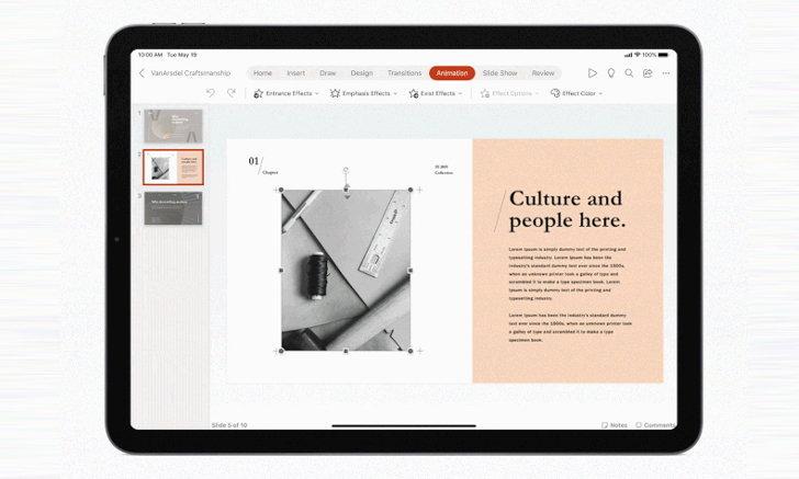 Microsoft Office ได้รับการอัพเดทใหม่ให้ใช้งานง่ายยิ่งขึ้นบน iPad