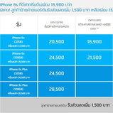 โปรโมชั่น iPhone 6s