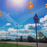 วิธีแต่งรูปใส่ไอคอนสีส้มใน Instagram