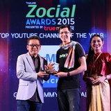 วิเชียร ฤกษ์ไพศาล รับรางวัล Top youtube Channel of The Year