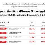 iPhone X โปรโมชั่น