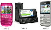 ที่สุดแห่งเครือข่ายสังคมและการใช้งานข้อความ โนเกียใหม่ 3 รุ่น Nokia C3, Nokia C6 และ Nokia E5