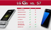 LG เผย Infographic เปรียบเทียบความสามารถของ LG G5 และ Samsung Galaxy S7