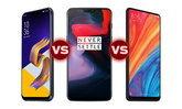 เทียบสเปก Asus ZenFone 5Z / OnePlus 6 / Xiaomi Mi Mix 2S ศึก 3 เรือธงรุ่นใหม่