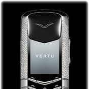 Vertu Signature White Gold Half Pave Diamonds