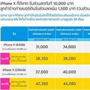 โปรโมชั่นล่าสุด iPhone X