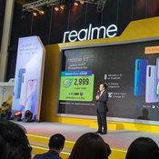 บูธ และ มือถือ realme ในงาน Thailand Mobile Expo 2019