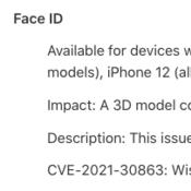 อัปด่วน iOS 15 ปิดช่องโหว่ใช้โมเดล 3D สแกน Face ID หลอกเข้าใช้งาน
