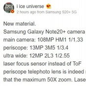 Samsung Galaxy Note20+ renders