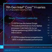 Intel เปิดตัวชิป Tiger Lake-H ชิปแบบ Mobility ที่เร็วที่สุดใน Single Thread เกิดมาเพื่อเกมมิงโน้ตบุ๊ก