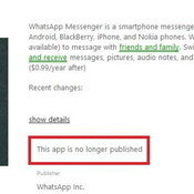 WhatsApp หายไปจาก Windows Phone Store