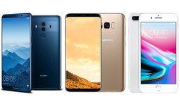 เทียบสเปก Huawei Mate 10 Pro vs Samsung Galaxy S8+ vs iPhone 8 Plus มือถือเรือธงรุ่นยอดนิยม